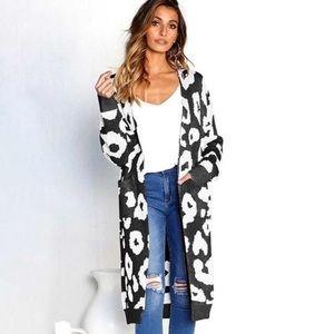 Sweaters - Women Leopard Print Cardigan Long